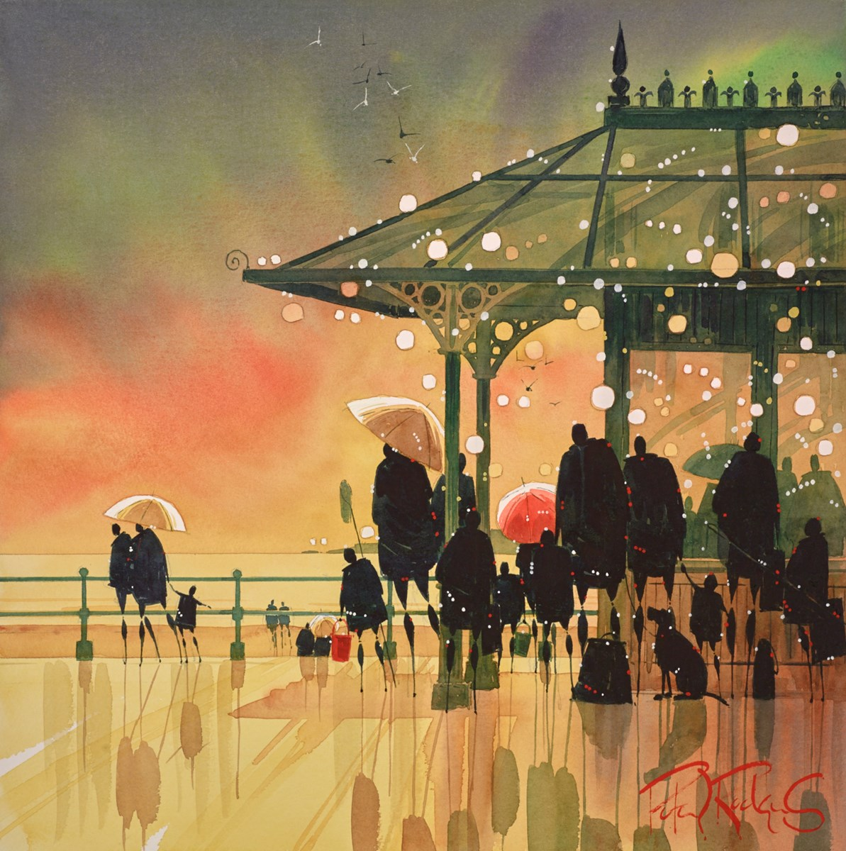 Promenade Shelter by peter j rodgers -  sized 16x16 inches. Available from Whitewall Galleries